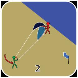 Launcha en kite - steg 2