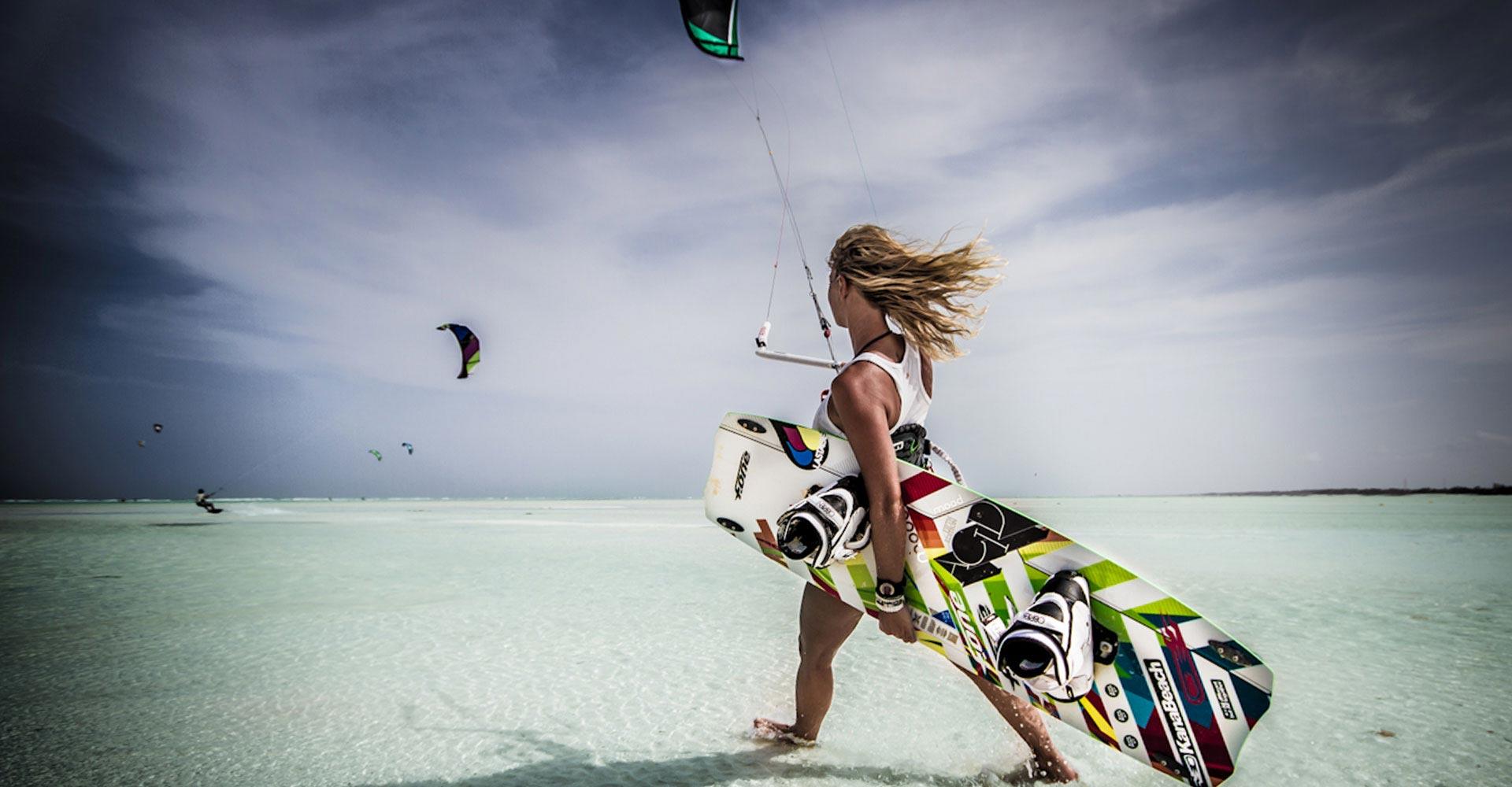 kitesurfing tjej